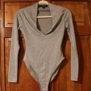 Forever 21 Silver Bodysuit
